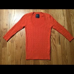 American Eagle Outfitters cable knit sweater 🧡